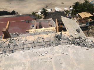 Levels-6-5-4-3-terrace-gutter-sections-being-installed